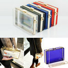 Women Transparent Acrylic Perspex Clutch Purse Evening Bag Handbag Shoulder Bags