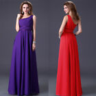 Elegant Bridesmaid Bridal Evening Dress Wedding Party Cocktail Gown Full Length
