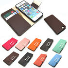 New pu-leather card wallet case cover w/steel buckle+film for iPhone 4 4S/5 5S