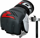 RDX Leather Gel MMA 7oz Grappling Gloves Fight Boxing UFC Punch Bag Muay Thai GR