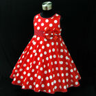 3121 Minnie Reds Polka Dot Flower Girls Party Dress AGE SIZE 1-2-3-4-5-6-7-8-10Y