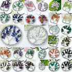 Beauty Wire Wrap Form Life-Tree Chips Charm Gemstone Pendant Beads For Necklace