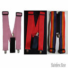 BRACES Clown Gangster PINK RED or RAINBOW Suspenders