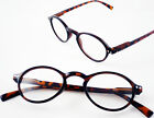 ROUND FRAME Designer Tortoiseshell READING GLASSES +1 +1.5 +2 +2.5 +3 Retro NEW!