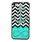 Fashion Green Anchor Style Hard Shell Back Case Cover Skin For iPhone 5C