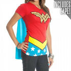 WONDER WOMAN Girl's Junior Babydoll Cape t tee Shirt NEW DC Comics Costume