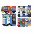 5 x Boys Kid Children Official Cartoon Character Cotton Rich Socks