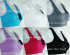 1 BRA or LOT OF 6 BRAS, YOGA SPORT BRA W/ REMOVABLE PADS ONE SIZE NEW #5512