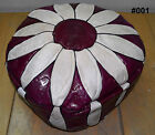 Egyptian Pharonic Hand Made Morcoan leather Footstool Pouf Ottoman Many 2 Choose