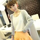 Ladies Women Crochet Knitted Button Cardigan Shirt Coat Blouse Outwear Knitwear