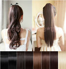 "22"" 24"" or 26"" Salon New Full head clip in hair extensions ponytail bangs CD2014"