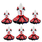 Minnie Mouse Pettiskirt Red Polka Dots 1-6 Number Birthday Tank Top Party Dress