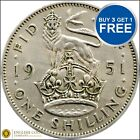 GEORGE VI ENGLISH SILVER SHILLING 1937 TO 1951 CHOICE OF YEAR / DATE