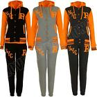 New Womens R NYC Baseball Fleece Hooded Tracksuit Jacket Bottoms Size S M L XL 8