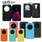 Quick Window View Flip Wallet Case Cover Magnet Lock For LG G Flex 2 / G3 / G4