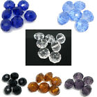 50 Nice Crystal Glass Faceted Rondelle Beads 10mm M0144