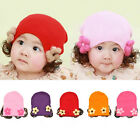 New Cute Baby Girl hats Flower Wig Toddler Infant Kids Knit hat Cap 3-15 Months