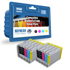 COMPATIBLE BROTHER LC1000 PRINTER INK CARTRIDGES - 2 FULL SETS + 2 EXTRA BLACK