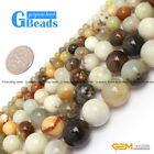 "Multi-Color Hua Show Jade Round Beads For Jewelry Making Free Shipping 15""Strand"
