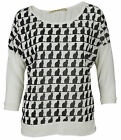 Big Star Women's Repeating Cat Graphics 3/4 Sleeve Shirt