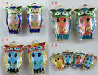 20pcs Cloisonne Enamel Owl Charms 28x18mm 4color-1 O69
