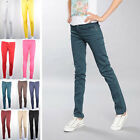 Womens Casual Slim Fit Stretch Candy Pencil Pants Skinny Jeans Trousers Jegging