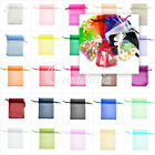20/60/100pcs Organza Rectangle Gift Wedding Favor Jewelry Pouch Bags 3 Size
