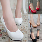 Womens Club Platform Stiletto Sexy Pumps Wedding Court Party High Heels Shoes