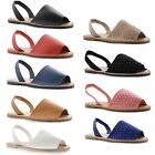 Womens Ladies Diamante Peep Toe Slingback Flip Flops Summer Sandals Shoes UK 3-8
