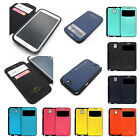 Shock-proof armor view Flip Bumper case cover w/magnet lock for Galaxy Series