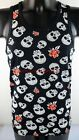 JA2315 Black Tank Top Sleeveless Skull Shirt Floral Tommy Mens Vest Singlet