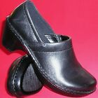 NEW Women's EASTLAND CALDORA Black Leather  Clogs Fashion Casual Dress Shoes