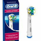 ORAL-B/ BRAUN FLOSS ACTION REPLACEMENT TOOTHBRUSH INDIVIDUAL HEADS -SEALED, NEW