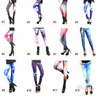 Fashion Color Bright Galaxy Women Sexy High Waisted Stretchy Leggings Pant