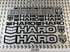 """19 Set HARO Bikes Bicycles BMX Decals Stickers Frame 11"""" COLORS Available A58I"""