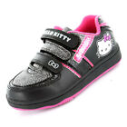 Black Pink Trainers HELLO KITTY Girls Shoes Velcro