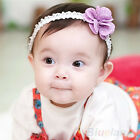 CUTE SOFT DOT GIRL INFANT HAIR BAND BABY KID LACE FLOWER HEADWEAR HEADBAND BF2K