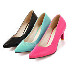 Womens Office Ladies Kitten Heels Pumps Classics Court Shoes Size Pointed Toes