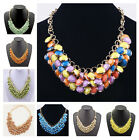 Hot Fashion Gold Plated  Multi-layers Resin Bib Necklace 7color U picks A1076