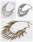 New Fashion Hung Pointed Cone Studs Spike Rivets Necklace A1137
