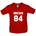 Brown 84 - Kids / Childrens T-Shirt - Drew - Republic - 8 Colours