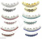 Best Grillz Gold Silver Plated 2 Row Iced Out Top & Bottom Teeth Hip-Hop Bling