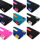 For Sony Xperia Z1s Impact Skin Case Silicone Armor Stand + Screen Protector