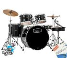 """Mapex Tornado 2 Drum Kit with Cymbals - 22""""BD Rock - Free Instructional Book"""