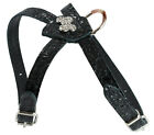 """Rhinestones Luxury Leather Dog Harness for Toy Breeds, 10""""-13"""" Chest size"""