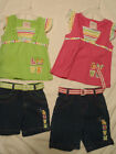 MON PETIT Baby Girls 12 or 24 Month Choice Belted Short Shirt Outfit NWT