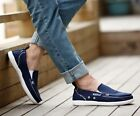 New Fashion Mens Casual Breathable Slip On Loafers Canvas Driving Flat Shoes