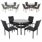 Ravenna Rattan Wicker Aluminium Garden Patio Dining Table Set With 4 Chairs