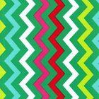 SHI SHI CHEVRON HOLLYBERRY- RED / GREEN- MICHAEL MILLER COTTON FABRIC CHRISTMAS