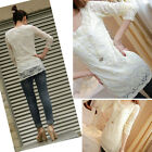 Women Casual Elegant Pearl Lace Hollow T-Shirt Tee Shirt Tops Blouses 3 colors